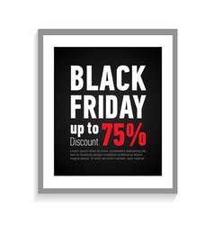 black friday sale poster in grey frameonline shop vector image