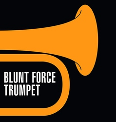 Blunt force trumpet vector image