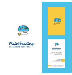 brain circuit creative logo and business card vector image