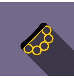 Brass knuckles icon flat style vector image