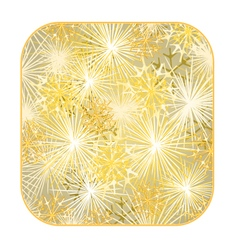 Button square New Year fireworks gold background vector