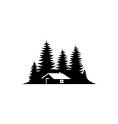 Cabin symbol for logo vector