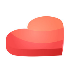 candy heart icon isometric style vector image