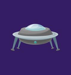 cartoon alien spaceship or ufo ship vector image