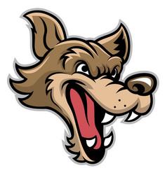 Cartoon bad wolf head vector