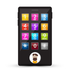 cell phone with numbers and man avatar on screen vector image