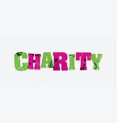 charity concept stamped word art vector image