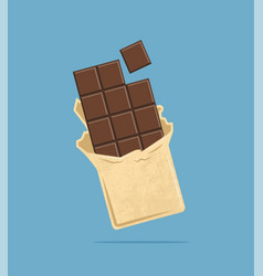 chocolate tile vector image