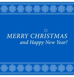 Christmas and New Year card-ornamental snowflakes vector image