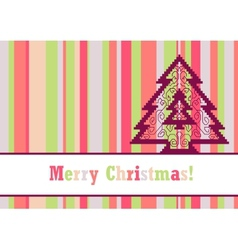 Christmas card with pine vector image