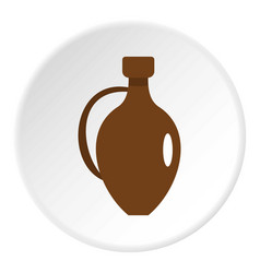Clay wine jug icon circle vector