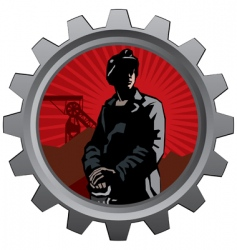 coal miner badge vector image