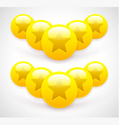composition of glossy star balls and coins vector image