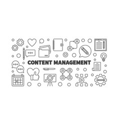 content management thin line horizontal vector image