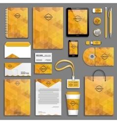 Corporate identity template set vector