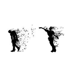 couple zombies on white vector image