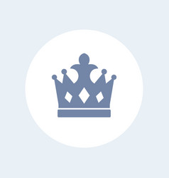 crown icon isolated over white vector image