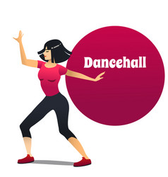 Dancehall dancer in cartoon style vector