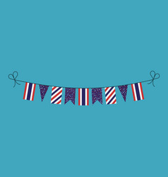 decorations bunting flags for thailand national vector image