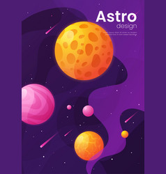 deep space futuristic cartoon background cover vector image