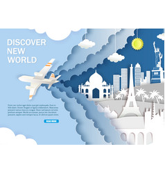 discover new world web banner template vector image