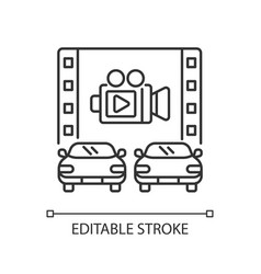 drive through movie theater linear icon vector image