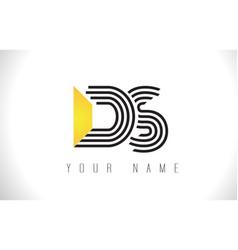 Ds black lines letter logo creative line letters vector