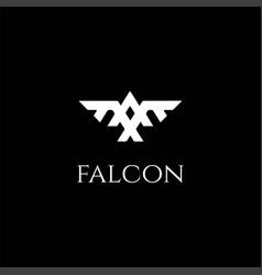 eagle hawk falcon phoenix bird monogram logo vector image