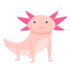 Exotic axolotl icon cartoon style vector