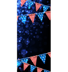 Festive background with american flags vector