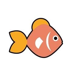 Fish sea life marine aquatic swim icon vector