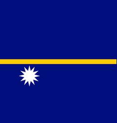 Flag nauru flat style vector