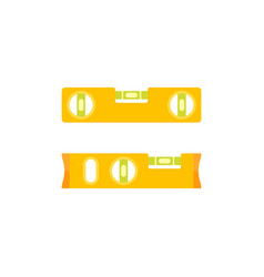 flat a spirit level vector image