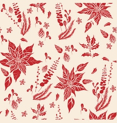 Floral holiday pattern-03 vector