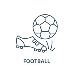 football line icon linear concept outline vector image