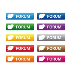 Forum buttons vector
