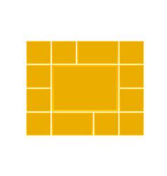 Frame for photos vector