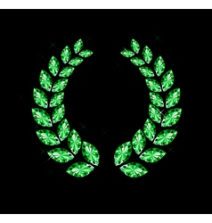 Gem Laurel Wreath vector image
