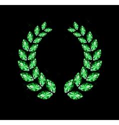 Gem Laurel Wreath vector