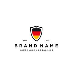 German flag shield logo design vector
