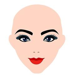 Girl portrait silhouette icon monochrome vector