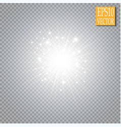 Glow light effect cloud of glittering dust vector