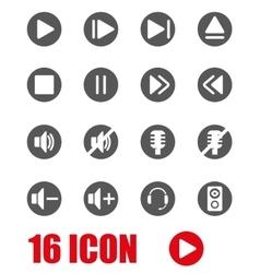 Grey sound icon set vector