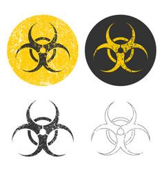 grunge stamp biohazard warning safety icon shape vector image