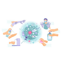 Hand hygiene virus composition vector