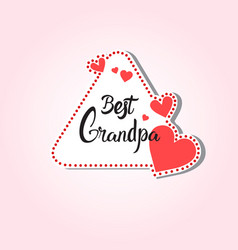 Happy grandparents day greeting card sticker vector