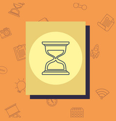 hourglass icon image vector image
