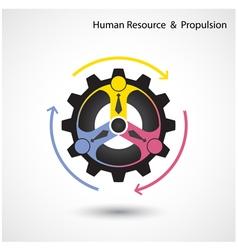 Human resource icon abstract logo design vector