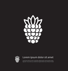 isolated blackberry icon scrub element can vector image