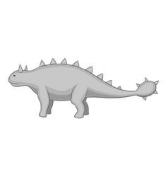 Kentrosaurus icon monochrome vector